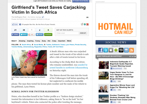 Twitter saves hijacking victim